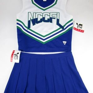 "NEW Varsity Cheerleader Uniform 36"" Top 30"" Skirt"
